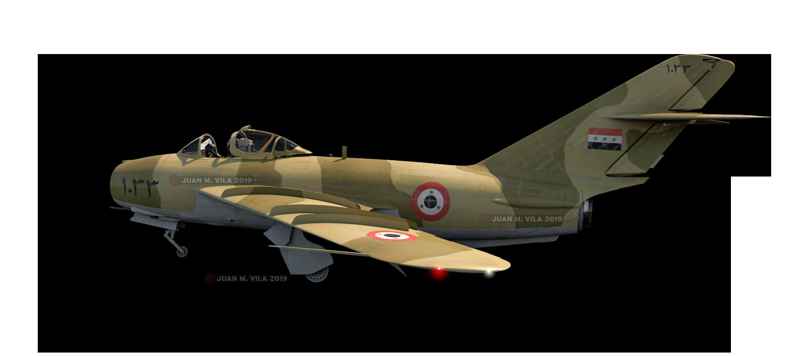 MiG-17 modelado en Cinema 4D