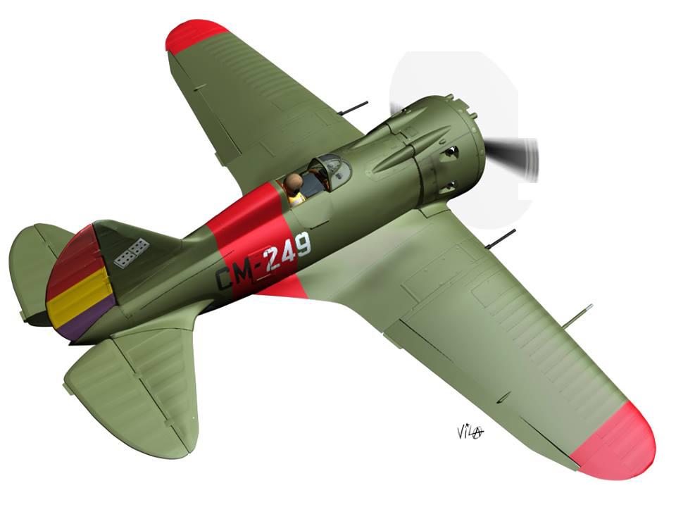 Polikarpov I-16 modelado en Cinema 4D