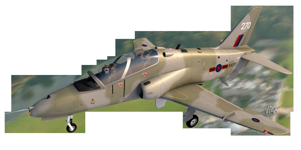 BAe Hawk modelado en Cinema 4D