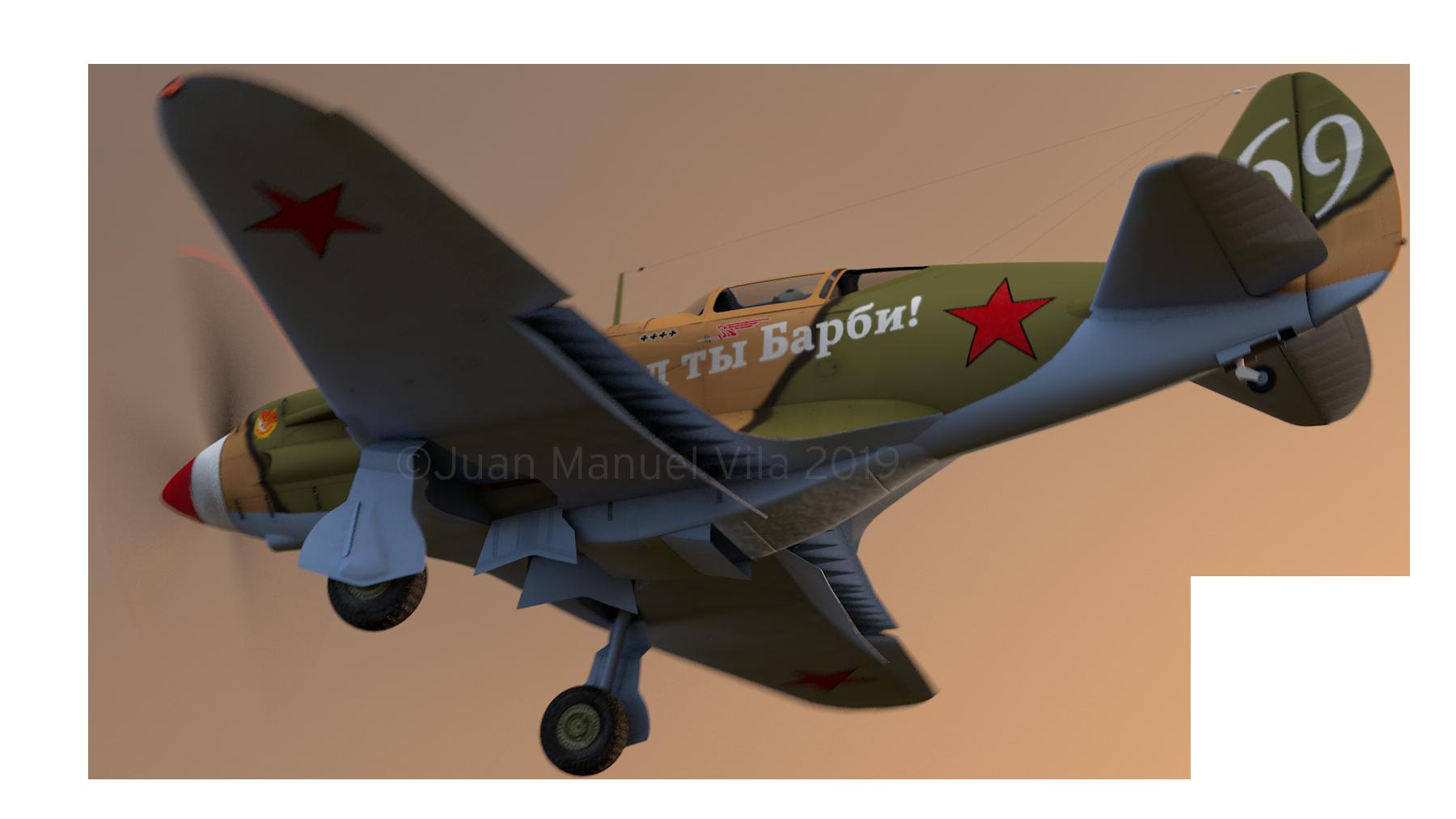 MiG-3 modelado en Cinema 4D
