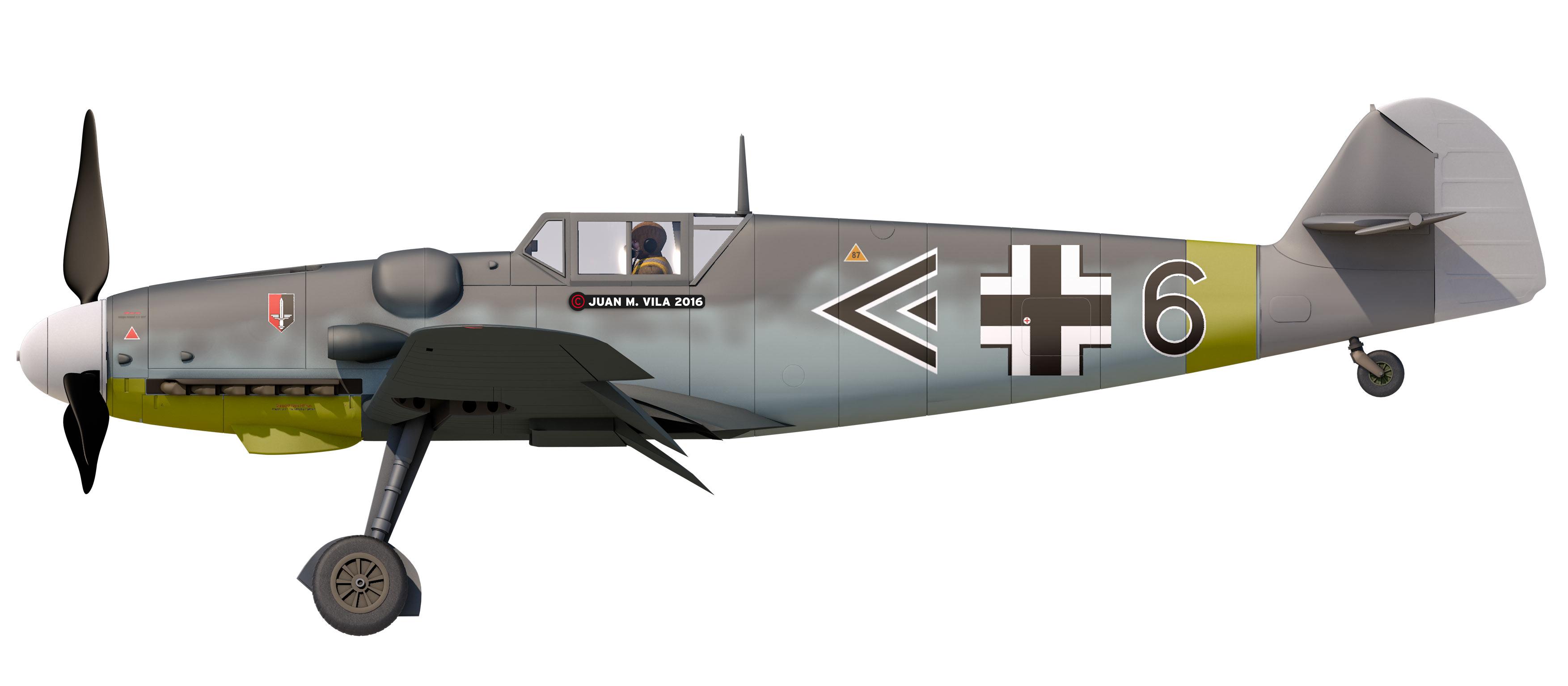 Messerschmitt Bf-109 modelado en Cinema 4D